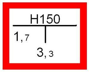 Beispiel für ein Hinweisschild für einen Unterflurhydranten