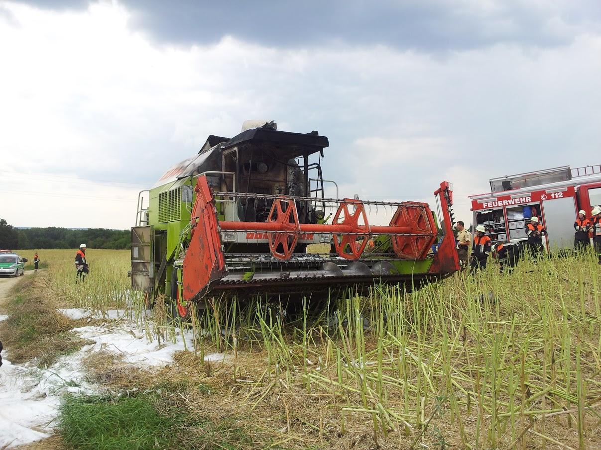 Mähdrescherbrand am 24.07.2014