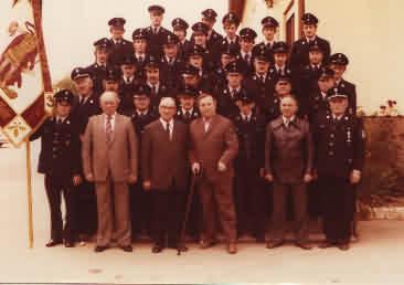Aktive der FF Bruckbergerau im Jahre 1978